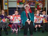 Winners of the recycled Christmas decoration competition at St. Palladius (2011)