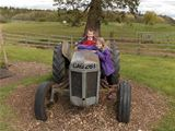 Dalry PS visit Catrine House - tractor driving (2012)