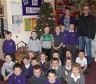 St. Palladius pupils with the Christmas Tree from CWL