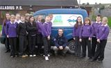 Educational Ranger Pete Boustead with his van at St. Palladius PS (2006)