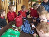 Dalry PS visit Catrine House - planting sunflower seeds (2010)