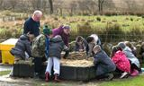 St Palladius pupils searching for Roman artefacts (2012)