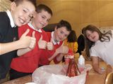 Dalry PS make erupting volcanoes (2012)