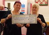 £1,000 donation to Garnock Valley Visuall Impaired Group