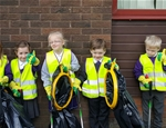 St Palladius pupils show that litter picking isn't such a rubbish job! - November 2016