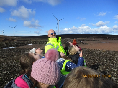 Longniddry Primary School - Presentation and Trip to Aikengall Windfarm