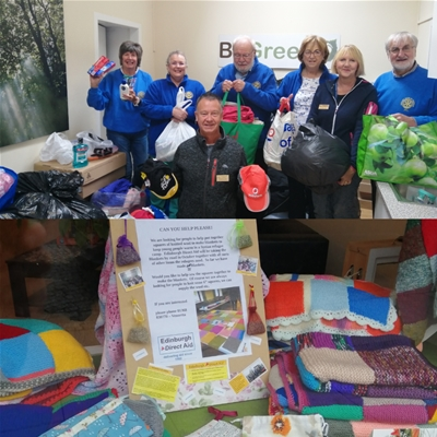 Edinburgh Direct Aid - Blankets and Donation Point