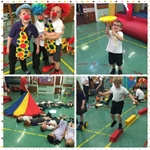 Pupils from St. Palladius Primary clown around in their Circus Skills session! - 7th July 2016