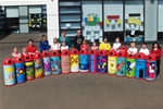 Dalry Primary School pupils design recycling bins – May 2013