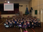 Christmas Tree donated to St. Bridget's Primary School - Dec 2013